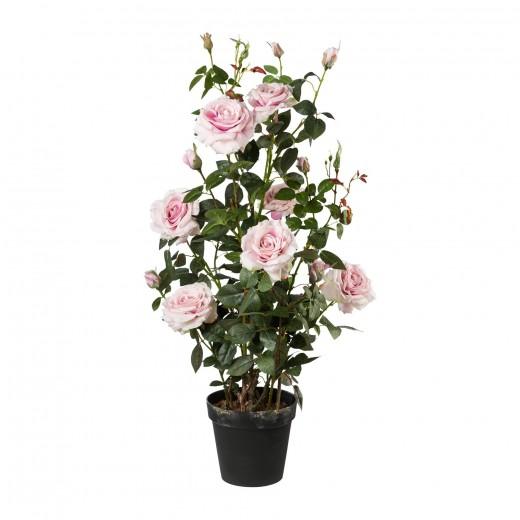 Floare artificiala in ghiveci, Rose Tree Roz, H112 cm