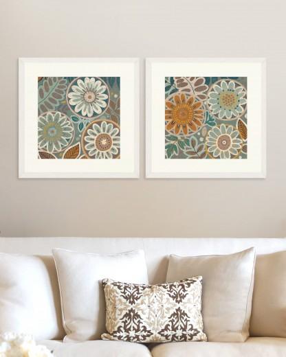Tablou 2 piese Framed Art Floral