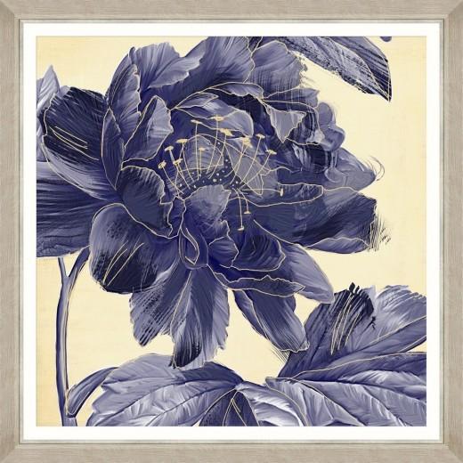 Tablou Framed Art Floral Indigo III