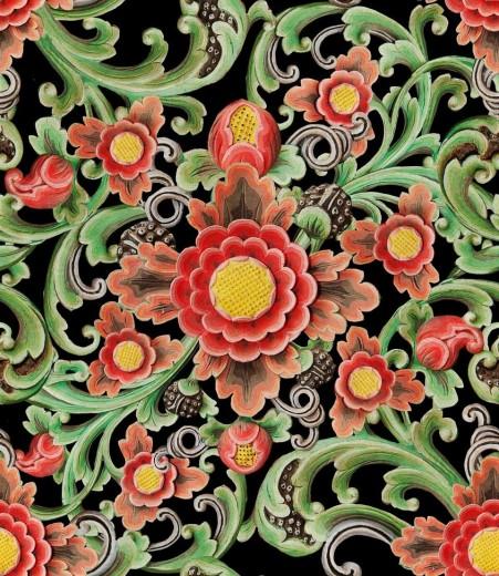 Set 3 role Tapet Imprimat Digital Floral Painting
