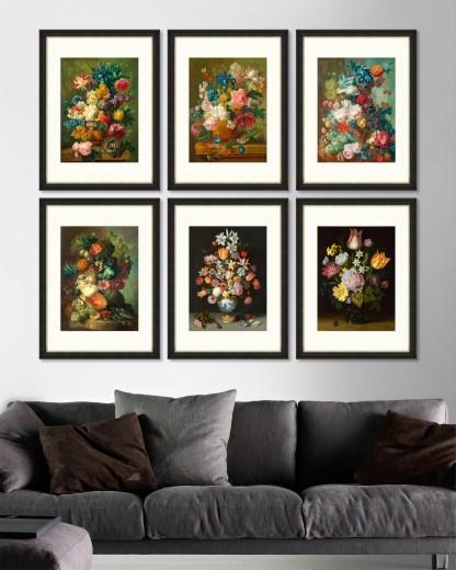 Tablou 6 piese Framed Art Flowers in Vase