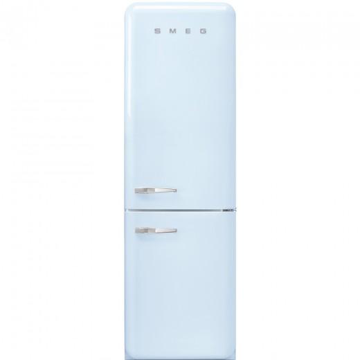 Frigider 2 usi cu deschidere dreapta FAB32RAZN1, Albastru pastel, 60 cm, Retro 50, SMEG