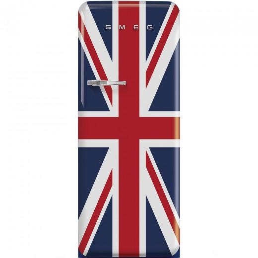 Frigider cu o usa deschidere dreapta FAB28RUJ1, Union Jack, 60 cm, Retro 50, SMEG
