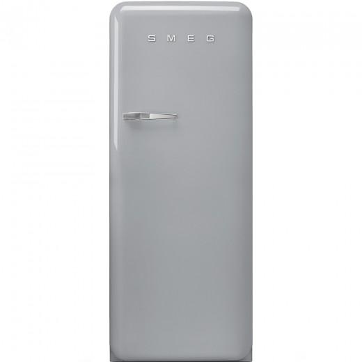 Frigider cu o usa deschidere dreapta FAB28RX1, Argintiu, 60 cm, Retro 50, SMEG