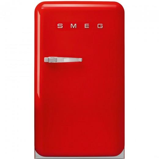 Frigider minibar FAB10HRR, Rosu, 55 cm, Retro 50, SMEG