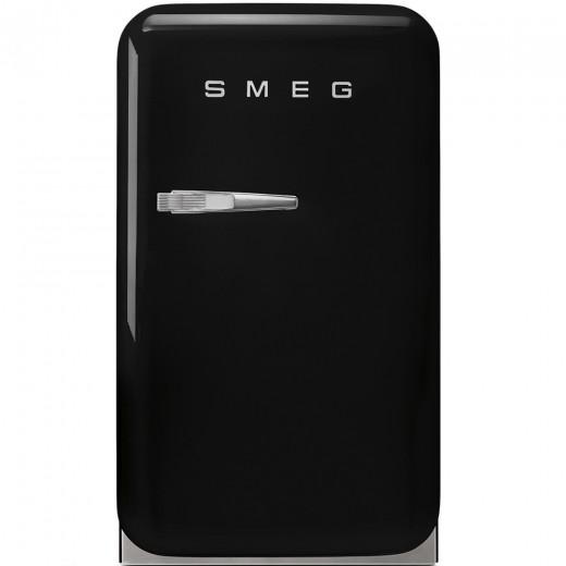 Frigider minibar FAB5RBL, Negru, 40 cm, Retro 50, SMEG