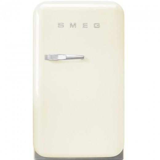 Frigider minibar FAB5RCR, Crem, 40 cm, Retro 50, SMEG