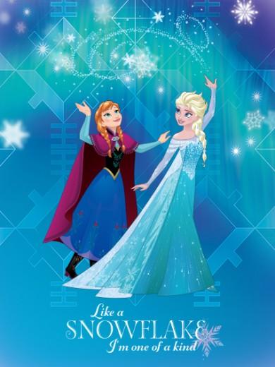 Covor Disney Kids Frozen Elsa & Anna 7, Imprimat Digital