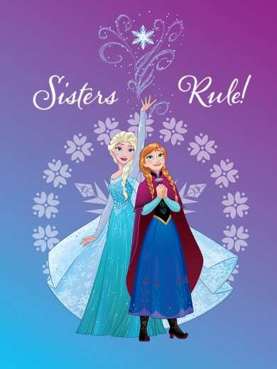 Covor Disney Kids Sisters Elsa & Anna 6, Imprimat Digital