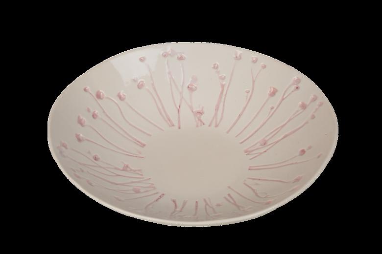 Fructiera ceramica Atmosphere White / Misty Rose, Ø 32 cm