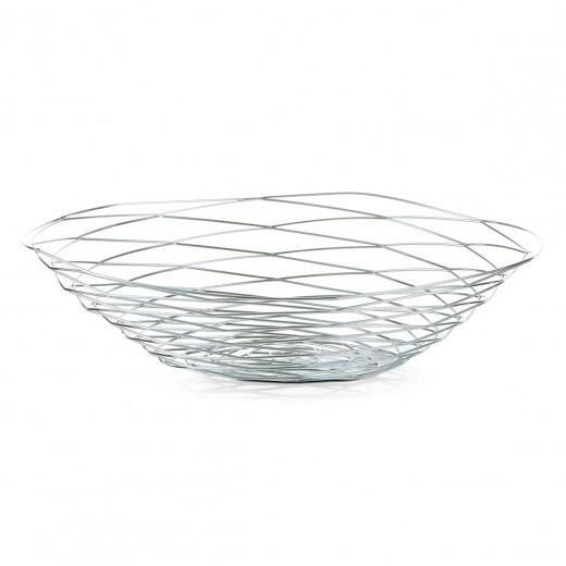 Fructiera Elegant III, Metal Cromat, Ø 39xH9,3 cm