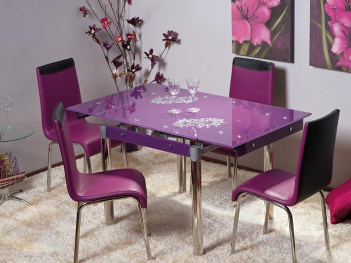 Masa extensibila din sticla GD-082 violet