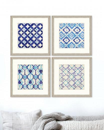Tablou 4 piese Framed Art Geometric Pattern I & IV
