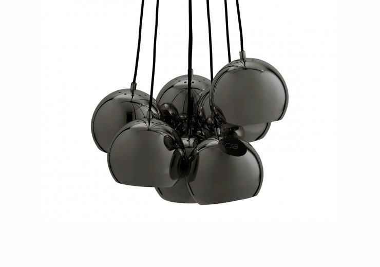 Lustra Ball Multi Black Glossy