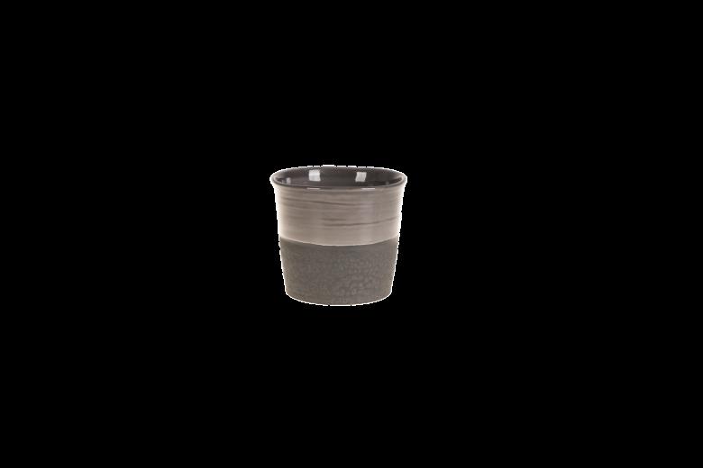 Set 6 ghivece ceramice Atmosphere Black, Ø 15 cm