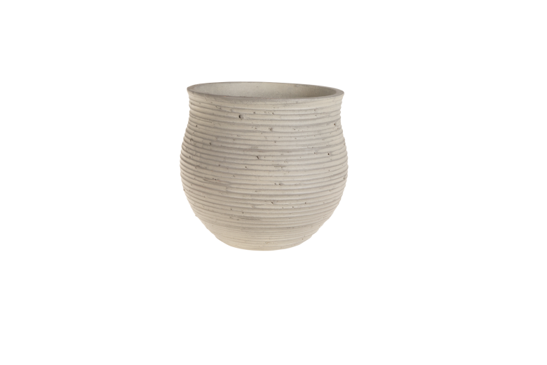 Ghiveci ceramic Atmosphere Light Grey, Ø 19,5 cm