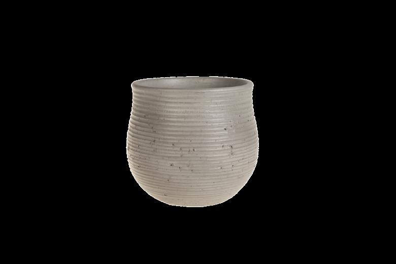 Ghiveci ceramic Atmosphere Light Grey, Ø 22,5 cm