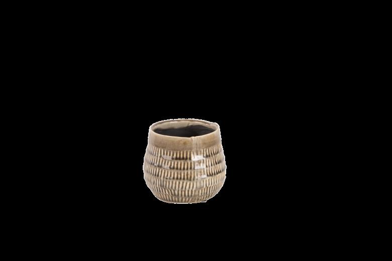 Ghiveci ceramic Atmosphere Steeple Grey, Ø 12 cm