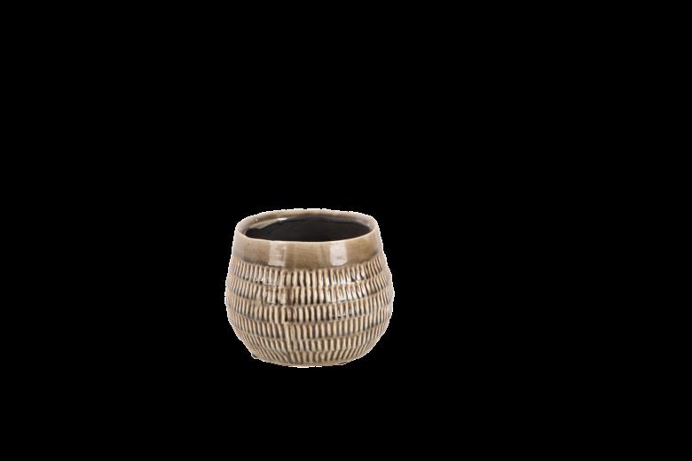 Set 6 ghivece ceramice Atmosphere Steeple Grey, Ø 14 cm
