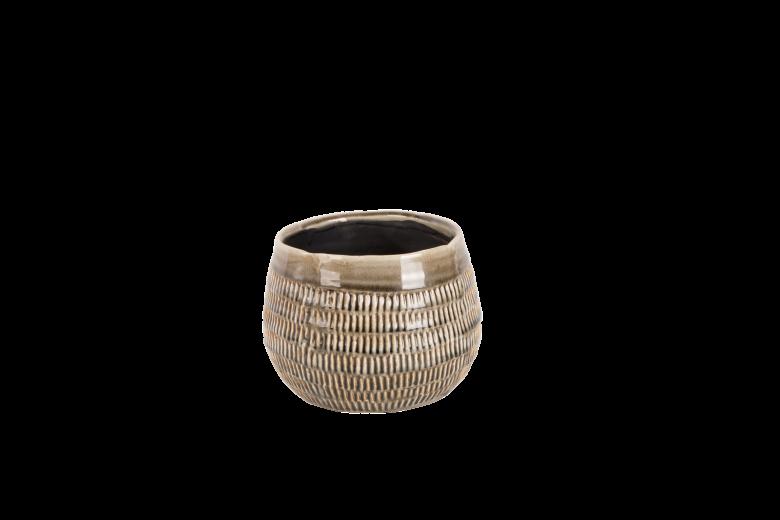 Set 4 ghivece ceramice Atmosphere Steeple Grey, Ø 17 cm