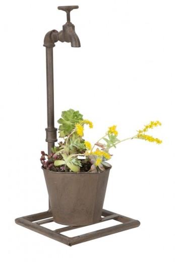 Ghiveci decorativ cu suport din metal Singo Maro, l19xA15xH48 cm