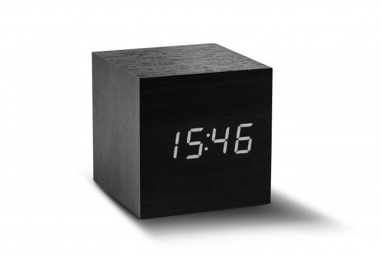 Ceas inteligent Cube Click Clock Black/White