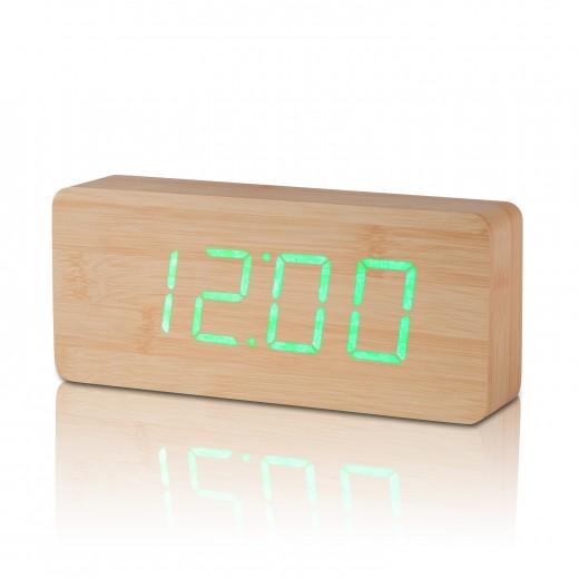 Ceas de camera Slab Click Clock Beech