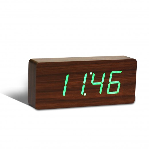 Ceas de camera Slab Click Clock Walnut