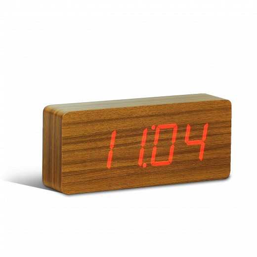 Ceas de camera Slab Click Clock Teak