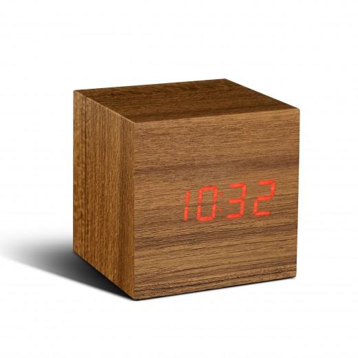 Ceas inteligent Cube Click Clock Teak/Red