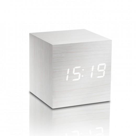 Ceas inteligent Cube Click Clock White/White
