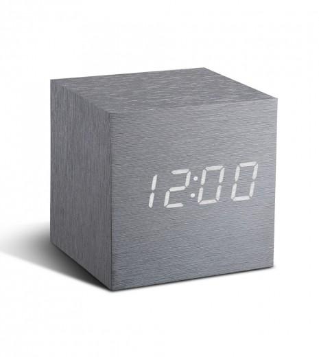 Ceas inteligent Cube Click Clock Aluminium/White