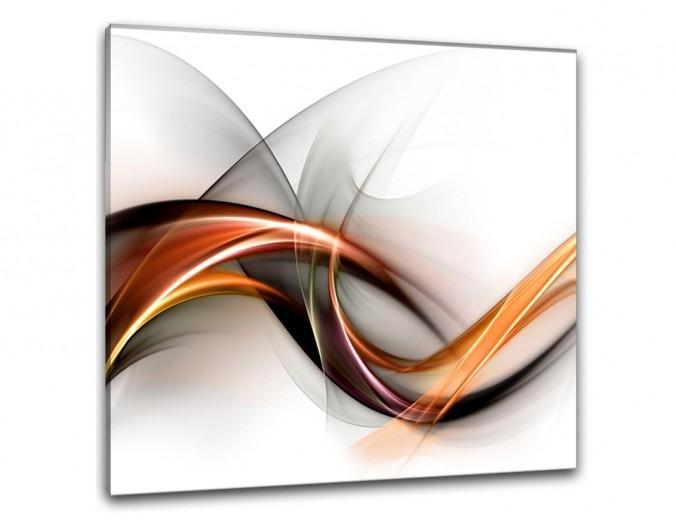 Tablou Sticla Glasspik Biala, 30x30 cm