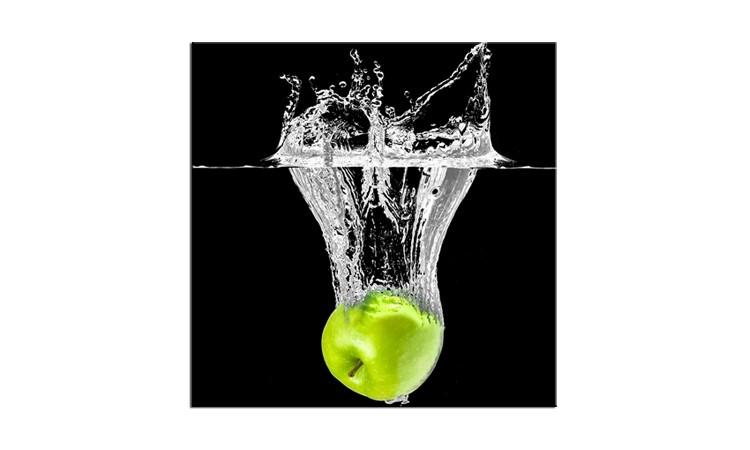 Tablou Sticla Glasspik Fruits Green, 20x20 cm