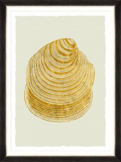 Tablou Framed Art Golden Seashell IV