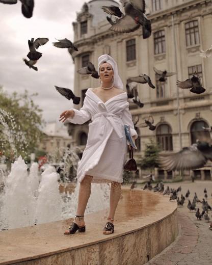 Halat de baie femei, Valencia Alb, L