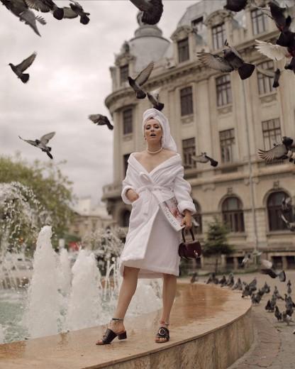 Halat de baie femei, Valencia Alb, M