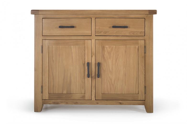 Comoda din lemn de stejar Hampshire Small II, l104xA45xH90 cm