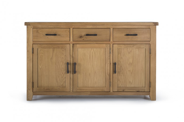 Comoda din lemn de stejar Hampshire Large II, l155xA45xH90 cm