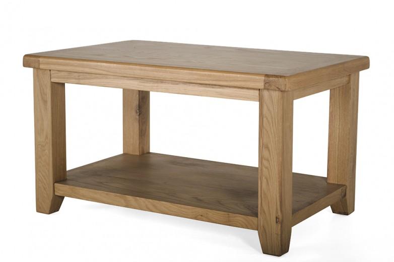 Masa de cafea din lemn de stejar Hampshire,  L90xl60x h50 cm