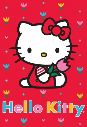 Covor Disney Kids Hello Kitty Red 756, Imprimat Digital