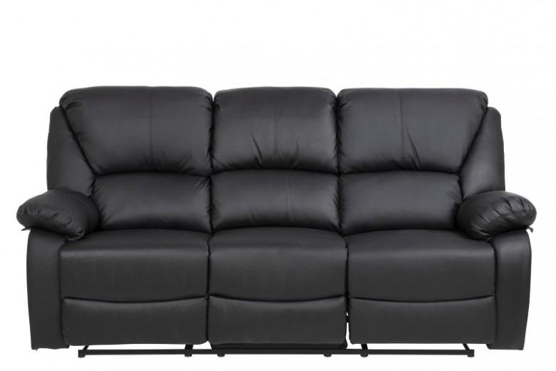 Canapea 3 locuri Recliner Helsinki Black