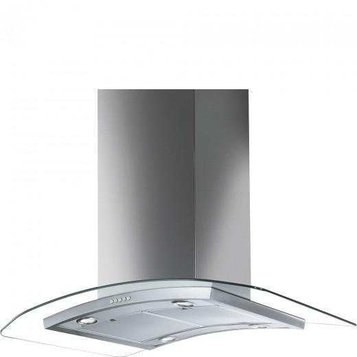 Hota decorativa KIV90XE, Inox, 90 cm, Linea, SMEG