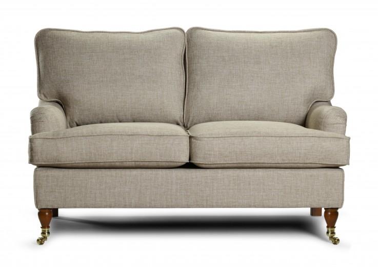 Canapea fixa 2 locuri tapitata cu stofa Howard