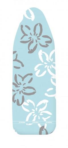 Husa masa de calcat din bumbac, Comfort M Bleu, L125xl40 cm