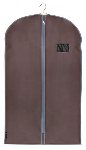 Husa pentru haine cu fermoar, Classic Maro, l60xH100 cm