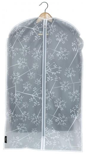 Husa pentru haine cu fermoar, Bon Ton Transparent / Alb, l60xH100 cm