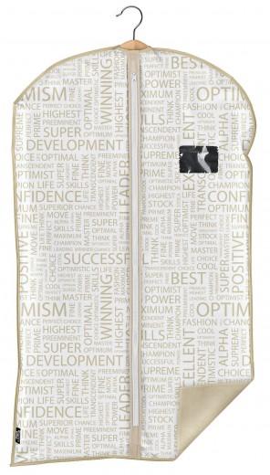 Husa pentru haine cu fermoar, Urban Alb / Grej, l60xH100 cm