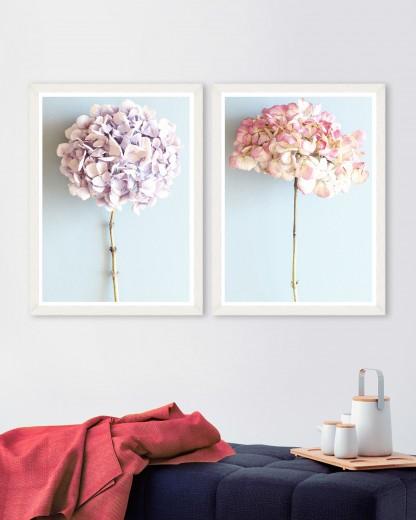 Tablou 2 piese Framed Art Hydrangeas