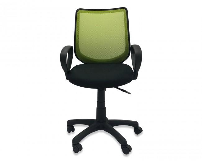 Scaun de birou ergonomic, tapitat cu stofa Novo S128 Green / Black, l55xA54xH88-93 cm